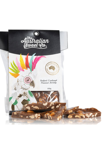 Australian Sweet Co Salted Caramel Peanut Brittle 150 G
