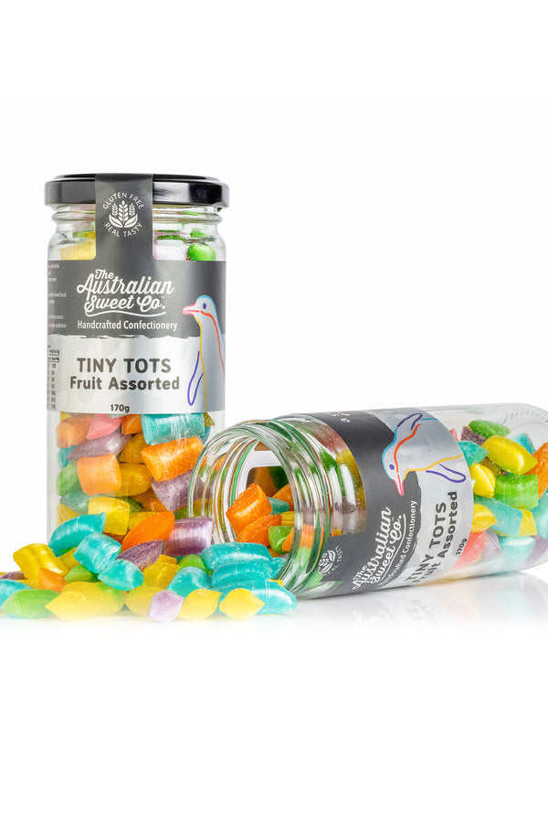 Australian Sweet Co Tiny Tots Fruit Assorted Rock Candy 170 G