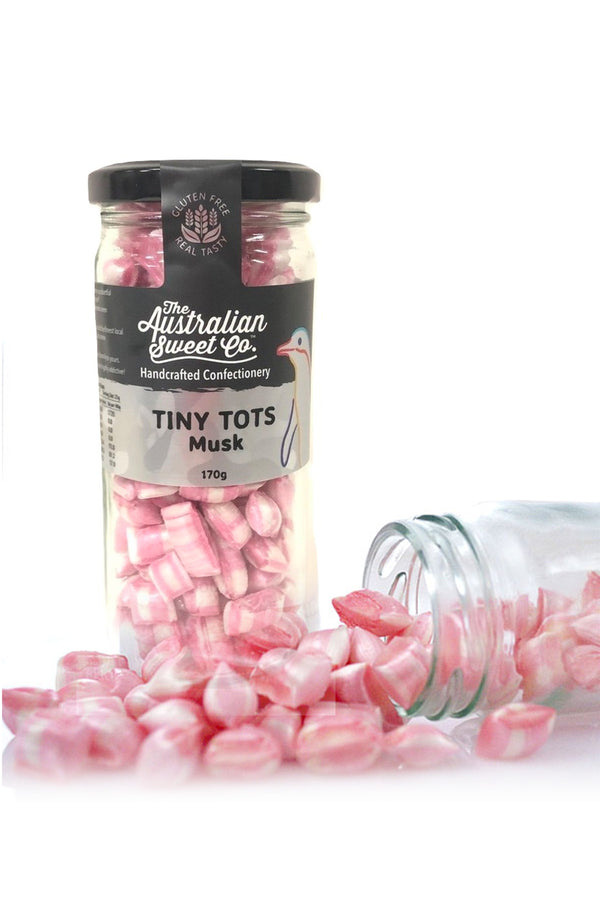 Australian Sweet Co Tiny Tots Musk Rock Candy 170 G