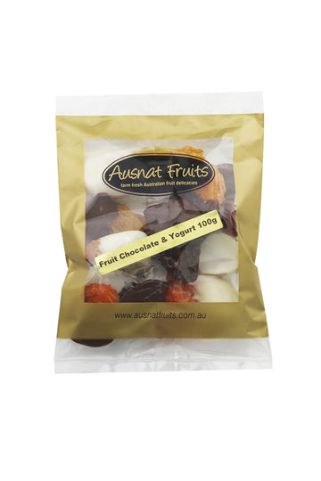 Ausnat Fruits Fruit Chocolate & Yoghurt 100g