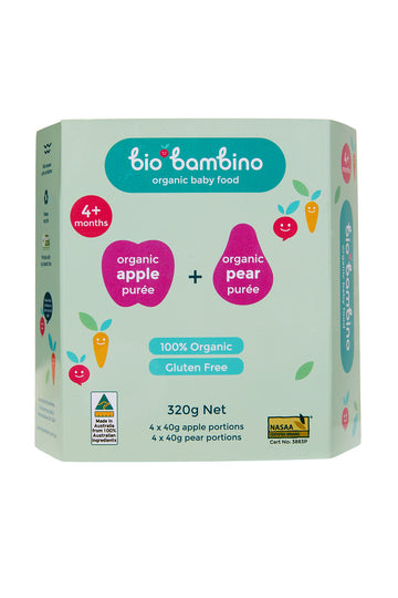 Bio Bambino Organic Apple + Pear Puree 320 G