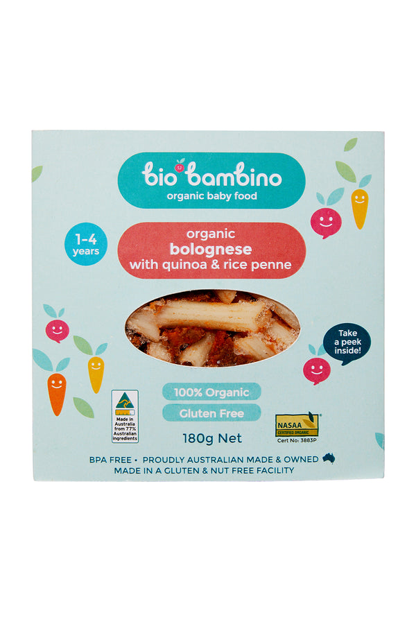 Bio Bambino Organic Bolognese with Quinoa and Rice Penne 180 G