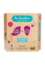 Bio Bambino Organic Sweet Potato + Carrot Puree 320 G