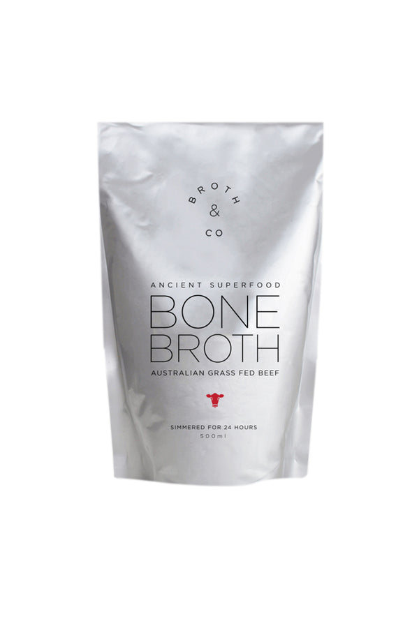 Broth & Co Grass Fed Beef Bone Broth Liquid 500 ML