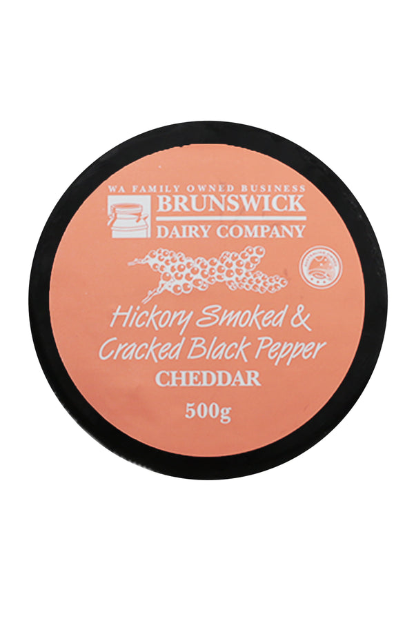 Brunswick Dairy Company Hickory Smoked & Cracked Black Pepper Cheddar
