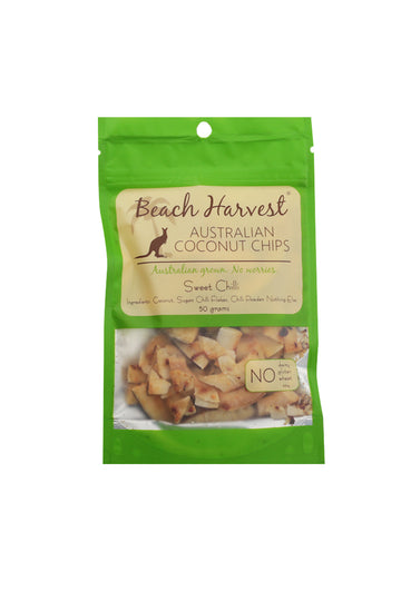 Beach Harvest Australian Coconuts Sweet Chilli Coconut Chips 50 G