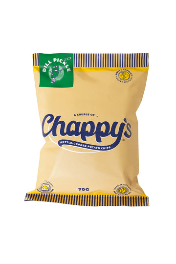Chappy's Dill Pickle Kettle-Cooked Potato Chips 70 G