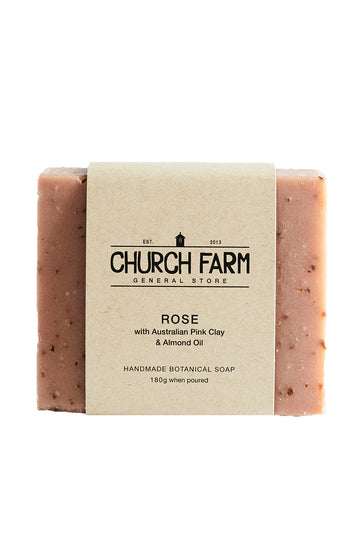 Church Farm Rose with Australian Pink Clay & Almond Oil 180g