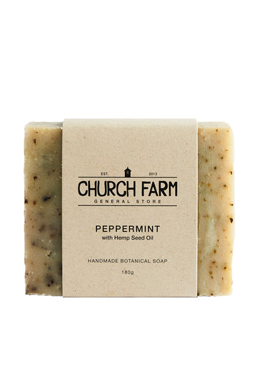 Church Farm Peppermint with Hemp Seed Oil 180g