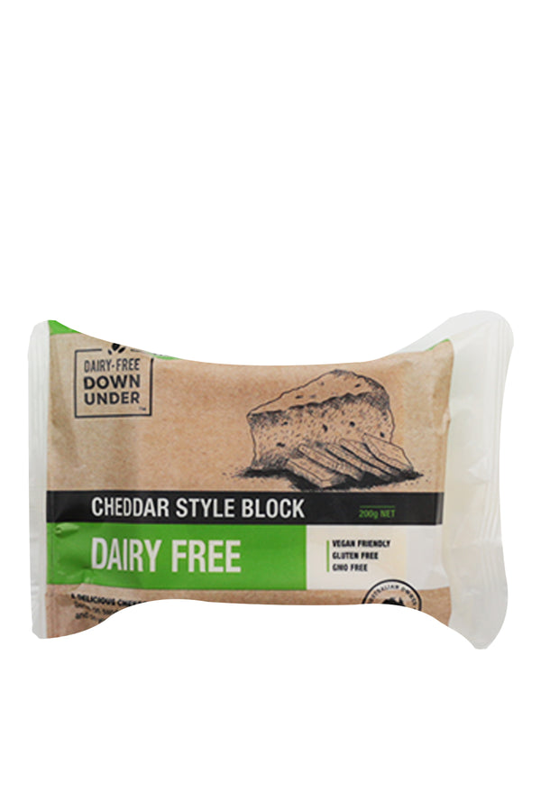 Dairy-Free Down Under Cheddar Style Block 200 G