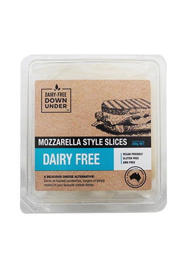 Dairy-Free Down Under Mozzarella Style Slices 200 G