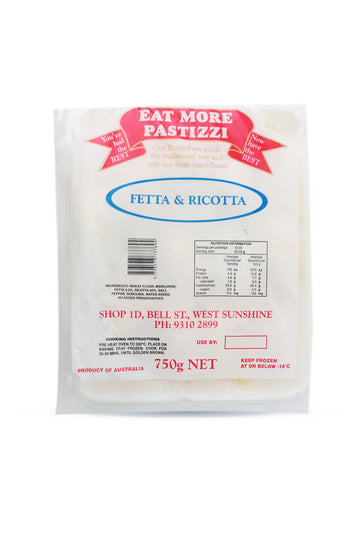 Eat More Pastizzi Feta & Ricotta 750 G