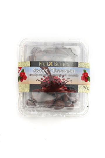 Fruit x Berries Sweet Obsession Crunchy Cranberries Covered in Milk Chocolate 150 G