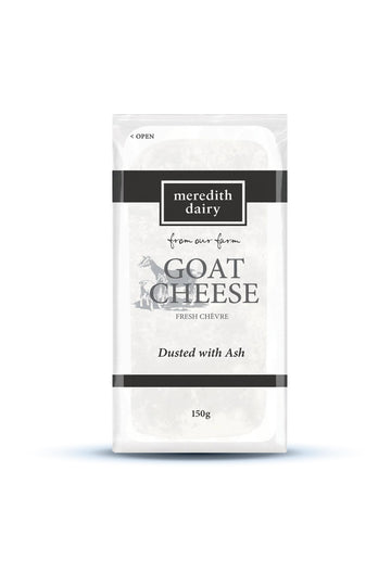 Meredith Dairy Goat Cheese Dusted with Ash Chevre 150 G