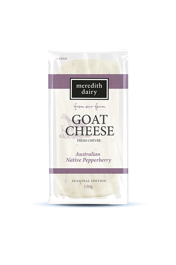 Meredith Dairy Goat Cheese Australian Native Pepperberry Chevre 150 G