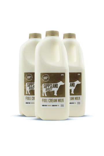 Gippsland Jersey Full Cream Milk 2L 3 Pack