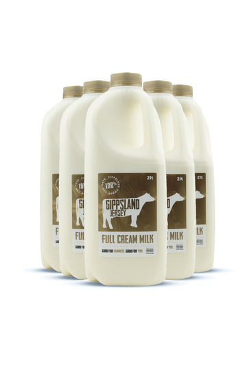 Gippsland Jersey Full Cream Milk 2L 6 Pack