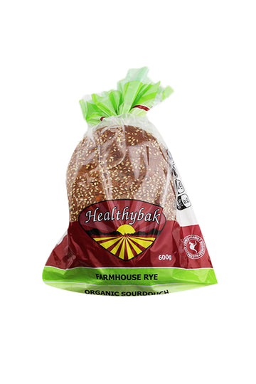 Healthybake Farmhouse Rye Organic Sourdough 600 G