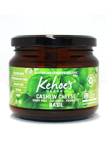 Kehoe's Kitchen Organic Basil Cashew Cheese 250g