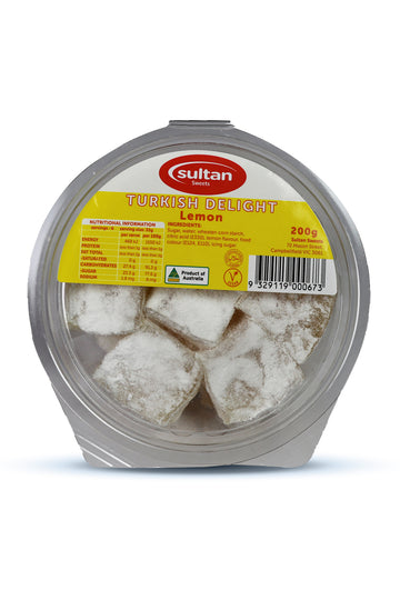 Sultan Lemon Turkish Delight 200G