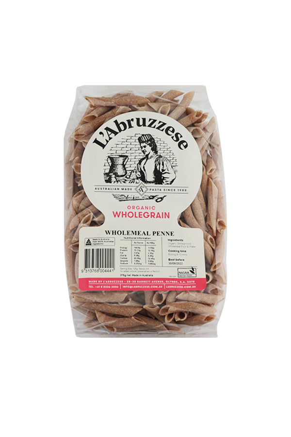 L'Abruzzese Organic Wholemeal Penne 375 G