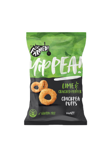 Get Farmed Lime & Cracked Pepper Chickpea Puffs 80 G