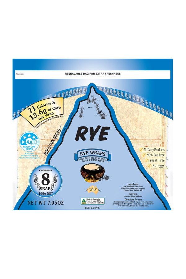 Mountain Bread Rye Wraps 200 G