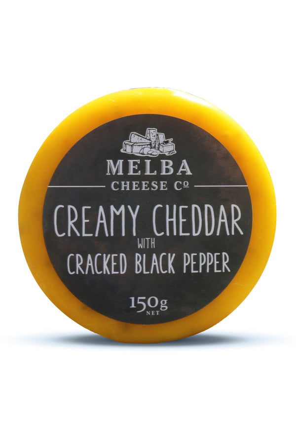 Melba Cheese Cracked Black Pepper Cheddar (Waxed) 150G