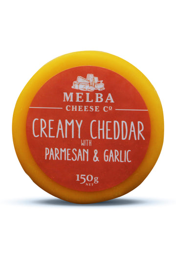Melba Cheese Creamy Cheddar with Parmesan and Garlic 150G