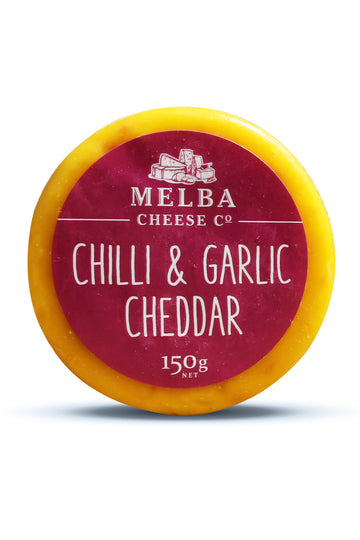 Melba Cheese Chilli and Garlic Cheddar (Waxed) 150G