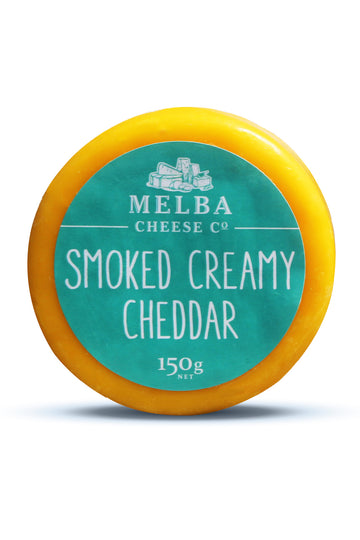 Melba Cheese Smoked Creamy Cheddar (Waxed) 150G