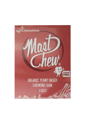 Mast Chew Organic Plant Based Cinnamon Chewing Gum 8 Pieces