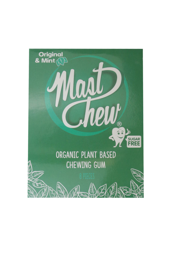 Mast Chew Organic Plant Based Original & Mint Chewing Gum 8 pieces