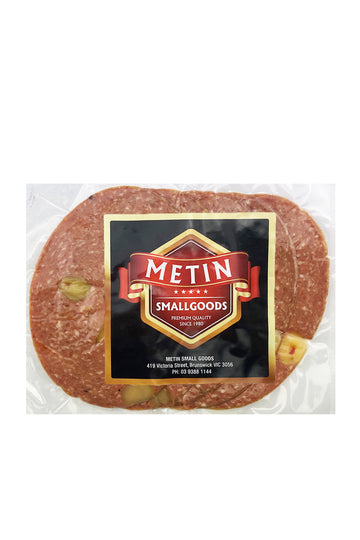 Metin Smallgoods Sliced Olive Salami 250g