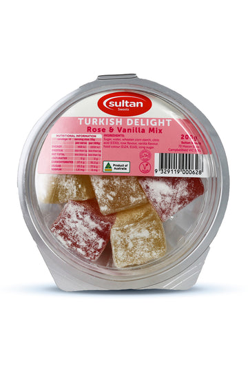 Sultan Mix Rose And Vanilla Turkish Delight 200G