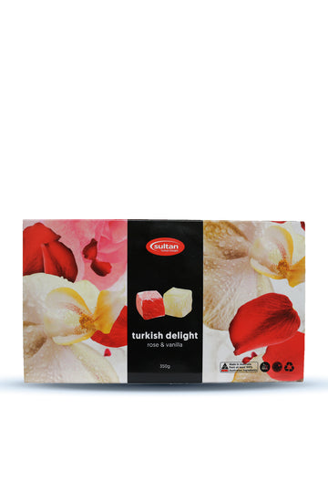 Sultan Mix Almond Rose & Vanilla Turkish Delight 350 G