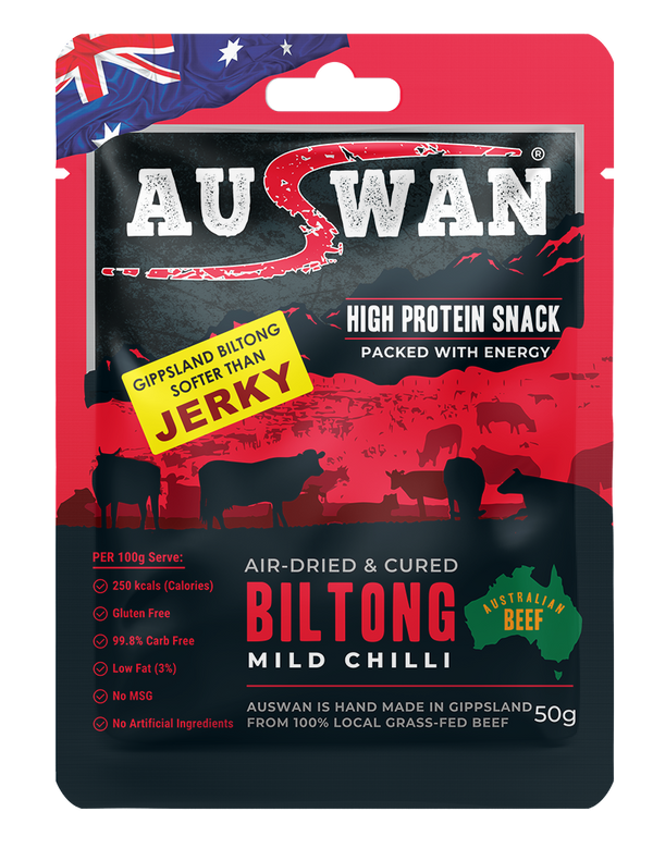 Auswan Biltong Chilli Meat Snack 50 G