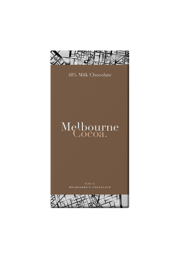 Melbourne Cocoa 48% Milk Chocolate Bar 100 G