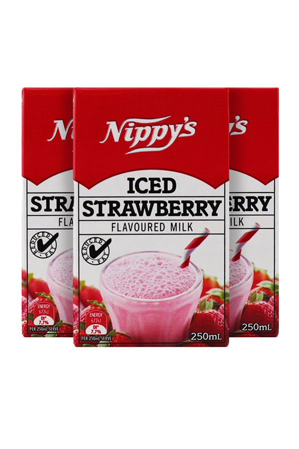 Nippy's Iced Strawberry Flavoured Milk 250 ML x 6 Pack