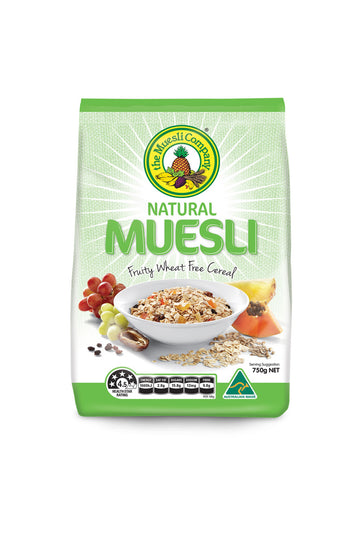 The Muesli Company Natural Muesli (Wheat Free) 750 G