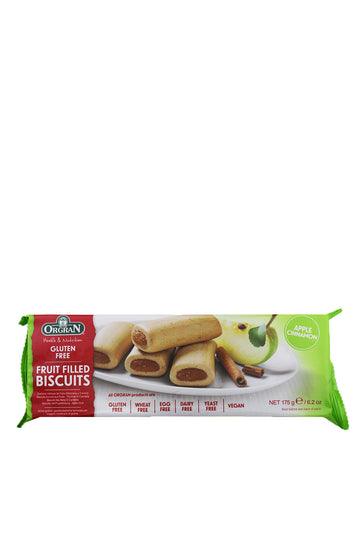 Gluten Free Apple & Cinnamon Fruit Filled Biscuits 175g