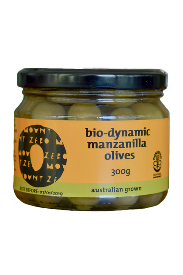 Mount Zero Olives Bio-dynamic Green Manzanilla Olives 300 G