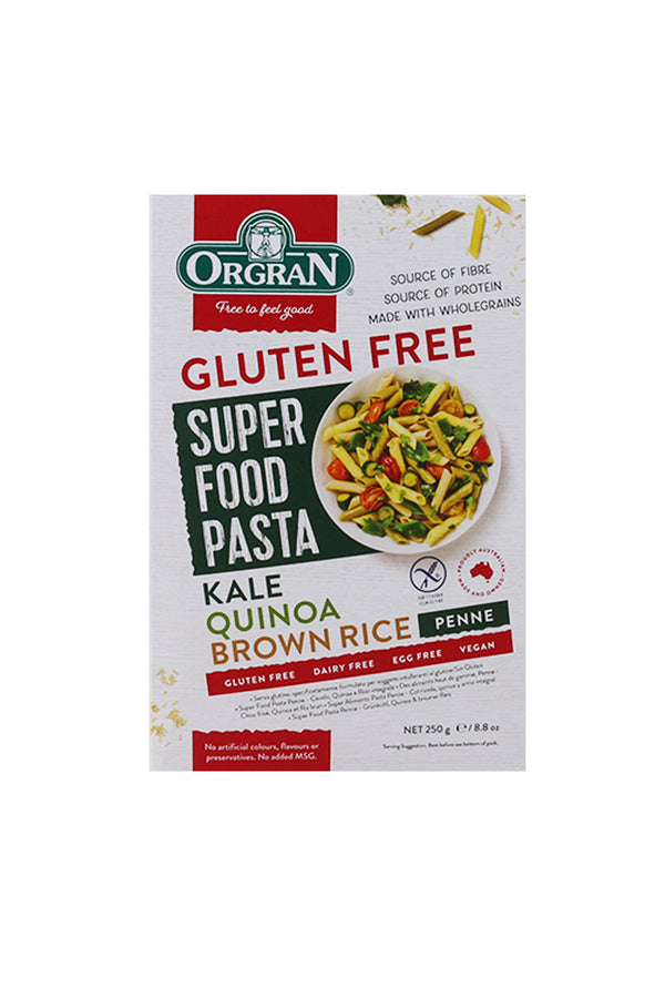 Super Food Pasta - Kale, Quinoa & Brown Rice Penne 250g