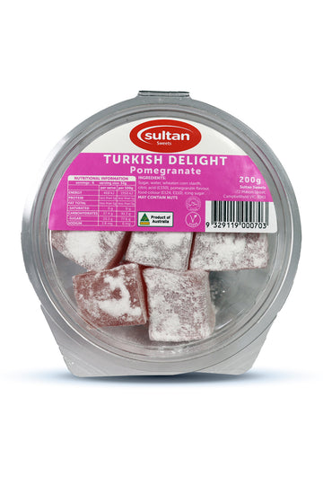 Sultan Pomegranate Turkish Delight 200G