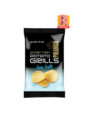 Piranha Golden Hash Potato Grills Sea Salt Gluten Free 75 G