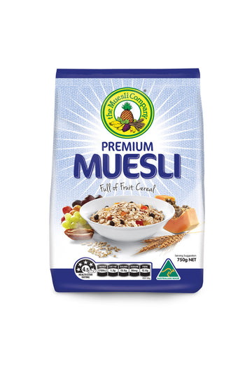 The Muesli Company Premium Muesli (Full of Fruit) 750 G