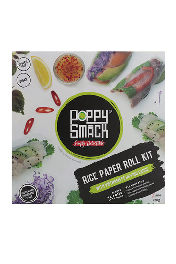 Poppy Smack Rice Paper Roll Kit with Vietnamese Dipping Sauce 420 G