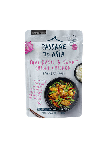 Passage To Asia Thai Basil & Sweet Chilli Chicken 200g