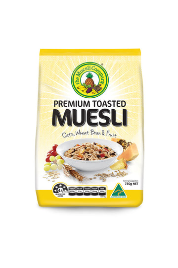 The Muesli Company Premium Toasted Muesli (Full of Fruit) 750 G