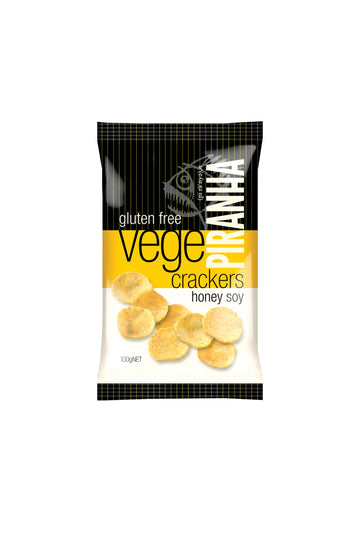 Piranha Vege Crackers Honey Soy Gluten Free 100 G